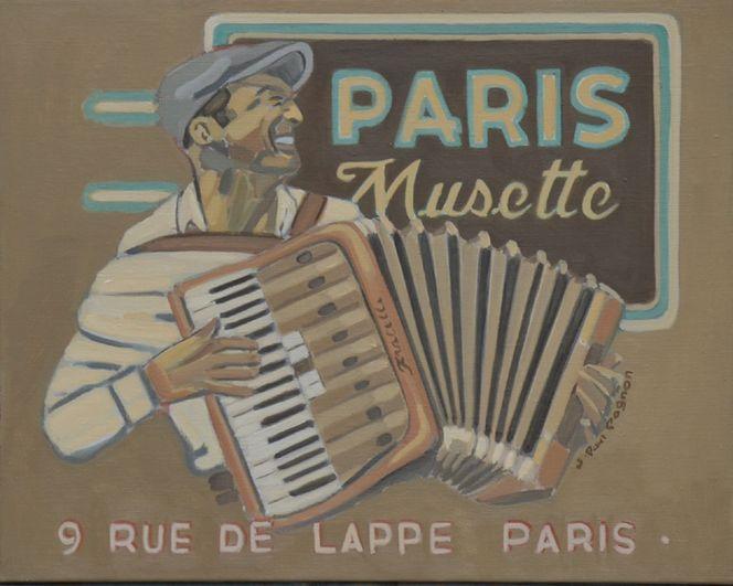 Frankreich, Blues painting, Jazz art, Musette, Paris, Malerei