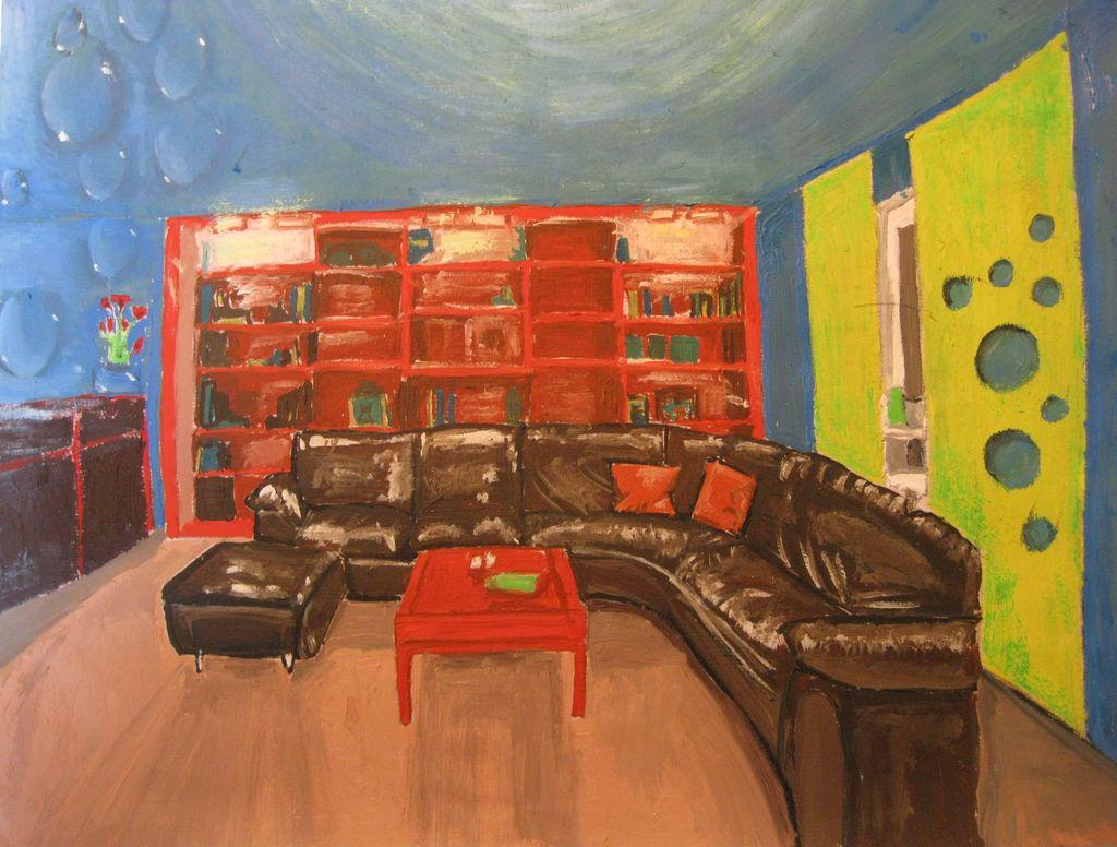 bild wohnzimmer bunt:Bild: Couch, Bunt, Wohnzimmer, Tisch von RebeccaP bei KunstNet