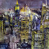 New york, Aquarellmalerei, Manhattan, Bank of america