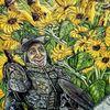Karikatur, Sonnenblumen, Berndtart, Don quijote
