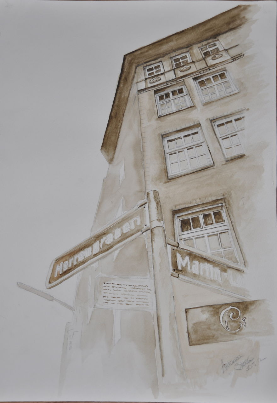 Bild aquarell architektur figural haus von toni0302 for Architektur aquarell