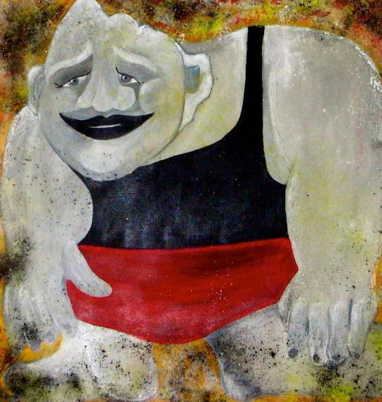 Menschen, Maske, Malerei