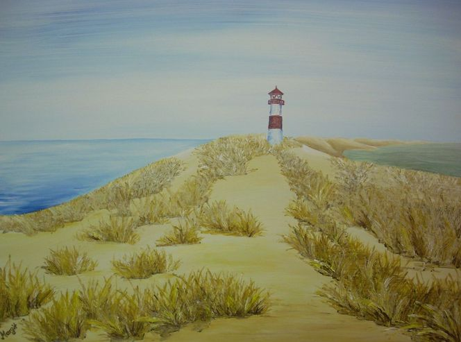 Liste, Leuchtturm, Acrylmalerei, Malerei