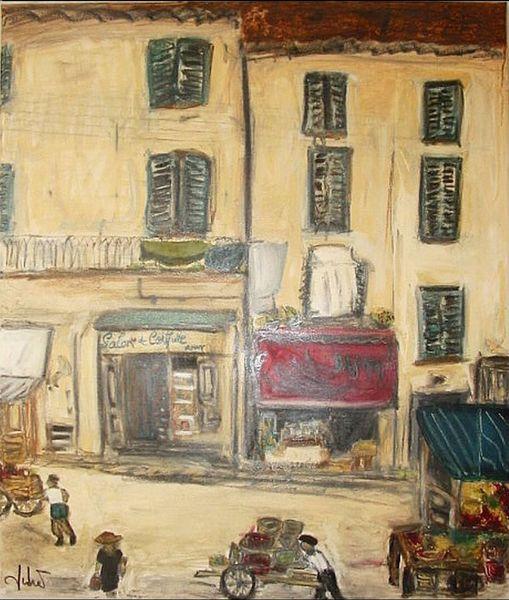 Gasse, Frankreich, Markt, Malerei
