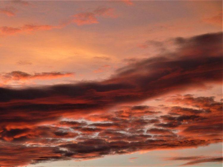 Rötung, Nachglühen, Himmel, Wolken, Abend, Fotografie