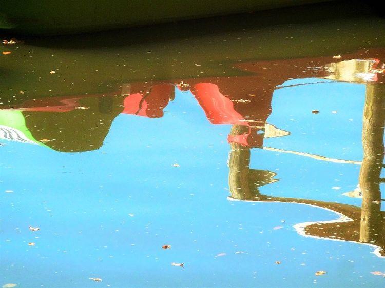 See, Teich, Wasser, Bootshaus, Spiegelung, Fotografie