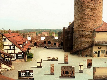 Burg, Installation, Burgthann, Elemente, Architektur, Fotografie