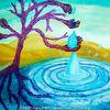 Baum, Wüste, Wasser, Surreal