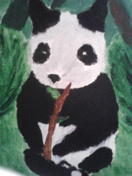 Pandapandabär, Malerei, Panda