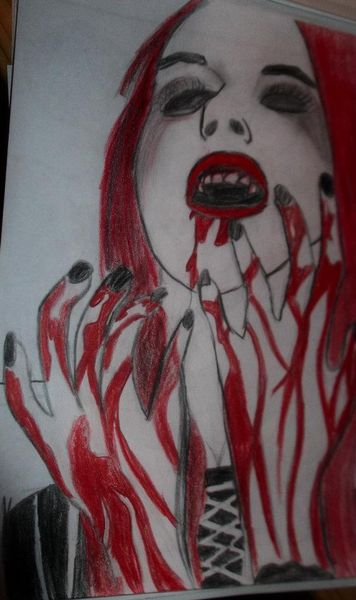 Blut, Rot schwarz, Weiß, Malerei