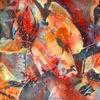 Novemberlicht, Aquarellmalerei, Herbstlaub, Laub