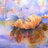Aquarellmalerei, Platanen, Blätter, Plane tree
