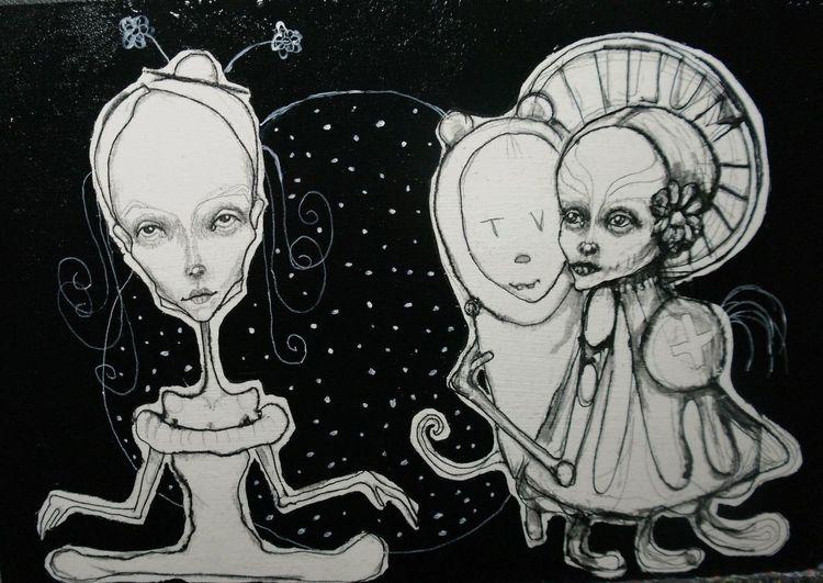 Traum, Puppe, Tinte, Zukunft, Figur, Skurril