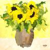 Blumen, Modern, Sonnenblumen, Atmosphäre