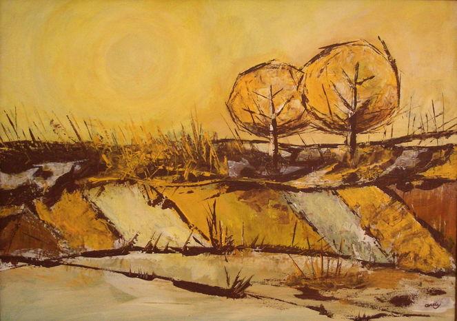 Herbst, Zeitgenössische kunst, Farben, Sommer, Modern, Malerei