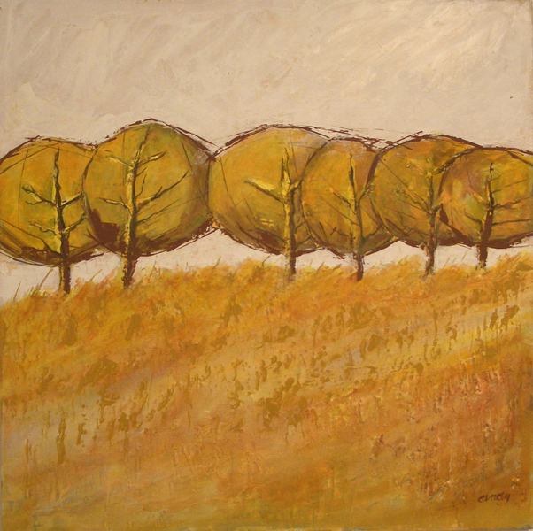 Herbst, Landschaft, Malerei, Wiese