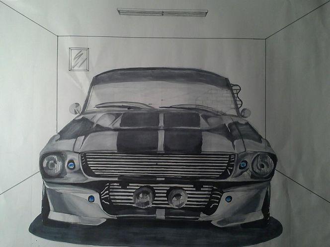 Design, Zeichnung, Malerei, Mustang,