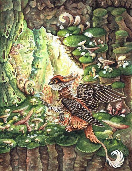 Fantasie, Pilzwald, Kinderbuch, Tiere, Wald, Greif