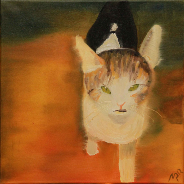 Katze, Leben, Malerei, Tiere,