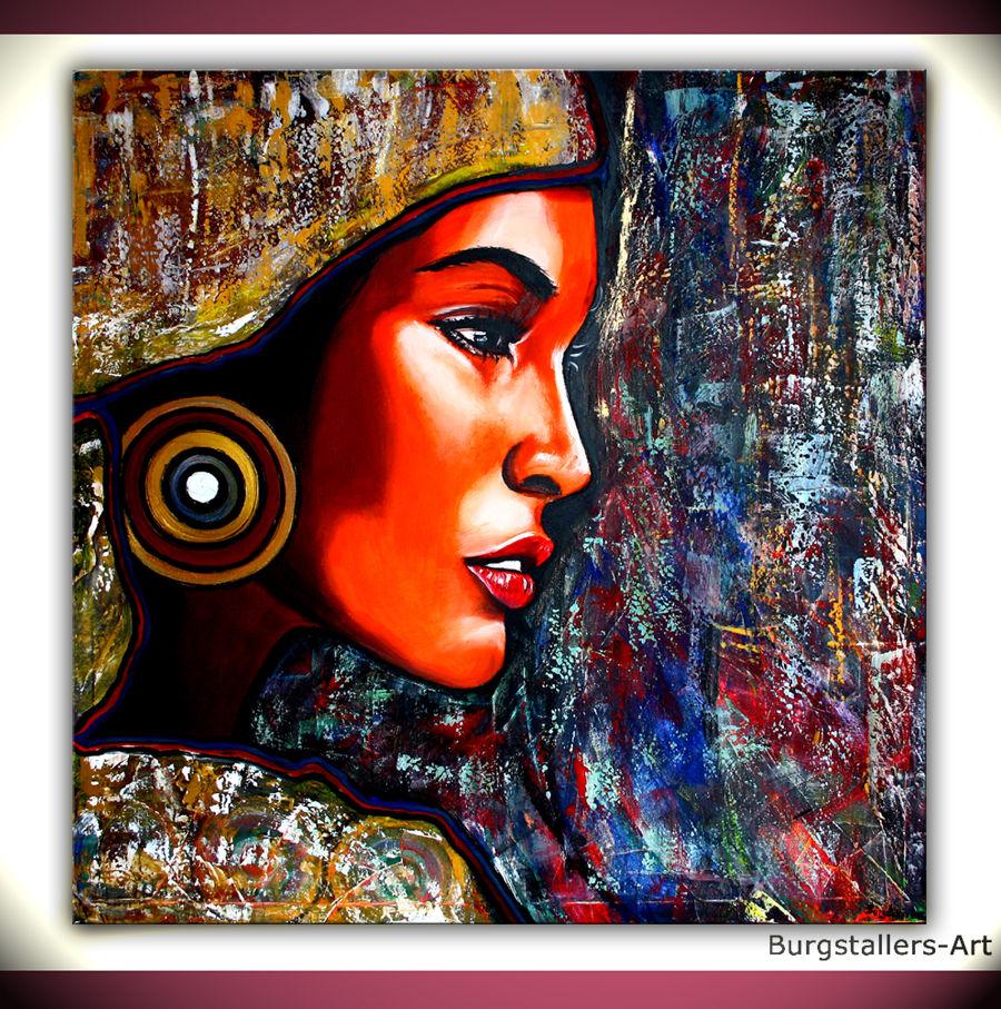 Gemälde Kunst bild acrylmalerei gemälde gesicht gold alex b bei kunstnet