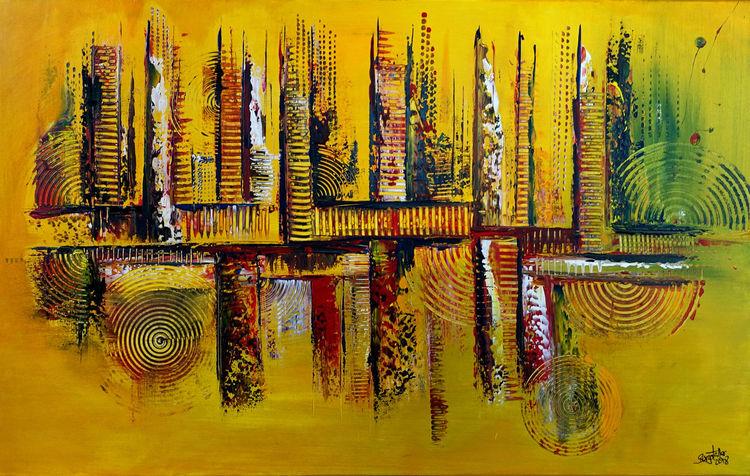 Herbst, Ocker, Abstrakt, Dekoration, Gelb, Geschenk