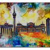 Berlin, Studio bild, Siegessäule, Abstrakte malerei