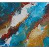 Blau braun, Acrylmalerei, Abstraktes leinwandbild, Gemälde