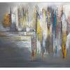 Beige grau, Dripping gold, Gemälde, Handemalt acryl