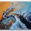 Welle, Abstrakt, Acrylmalerei, Malerei