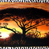 Serengeti, Afrika, Malerei, Landschaft
