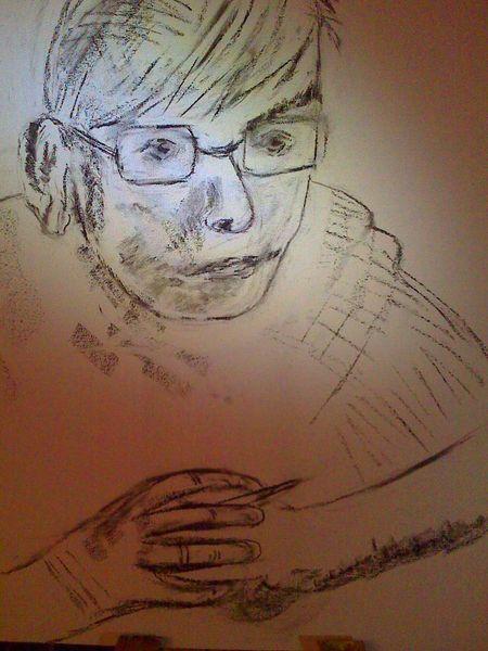 Skizze, Malerei, Portrait, Vater