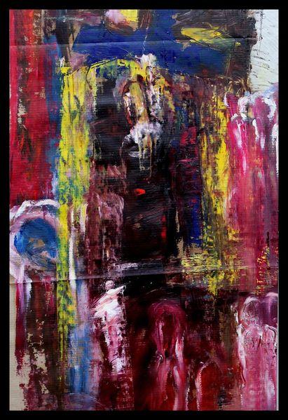 Mischtechnik, Ölmalerei, Acrylmalerei, Abstrakt, Malerei
