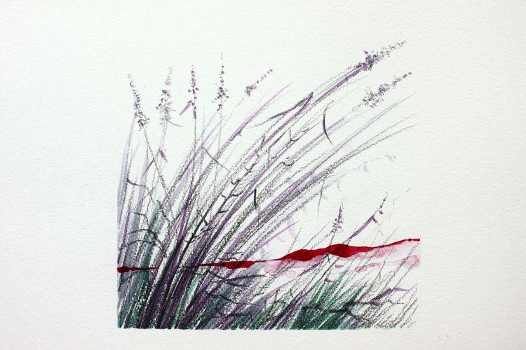 Aquarellmalerei, Gras, Pflanzen, Aquarell