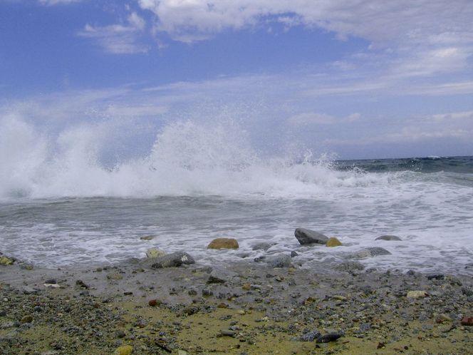 Strand, Brandung, Kalabrien, Himmel, Meer, Stimmung
