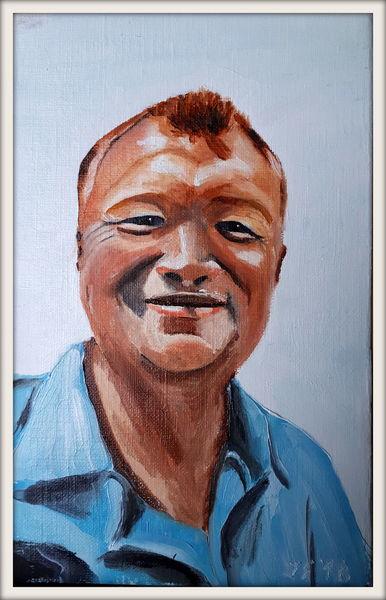 Mann, Kopf, Portrait, Malerei, Hälfte