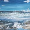 Wasseroberfläche, Ferne, Brandung, Strand