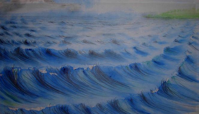 Meer, Landschaft, Strand, Malerei
