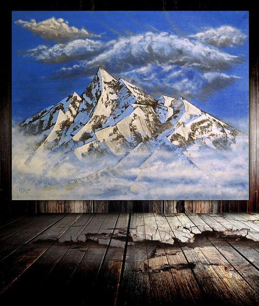 Berge, Gipfel, Malerei