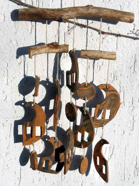 Mobile, Abstrakt, Keramik, Windspiel, Kunsthandwerk, Gartenkeramik