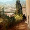 Sommer, Malerei, Baum, Toskana