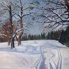 Schnee, Baum, Natur, Spuren