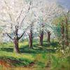 Ölmalerei, Gegenständlich, Natur, Blüte