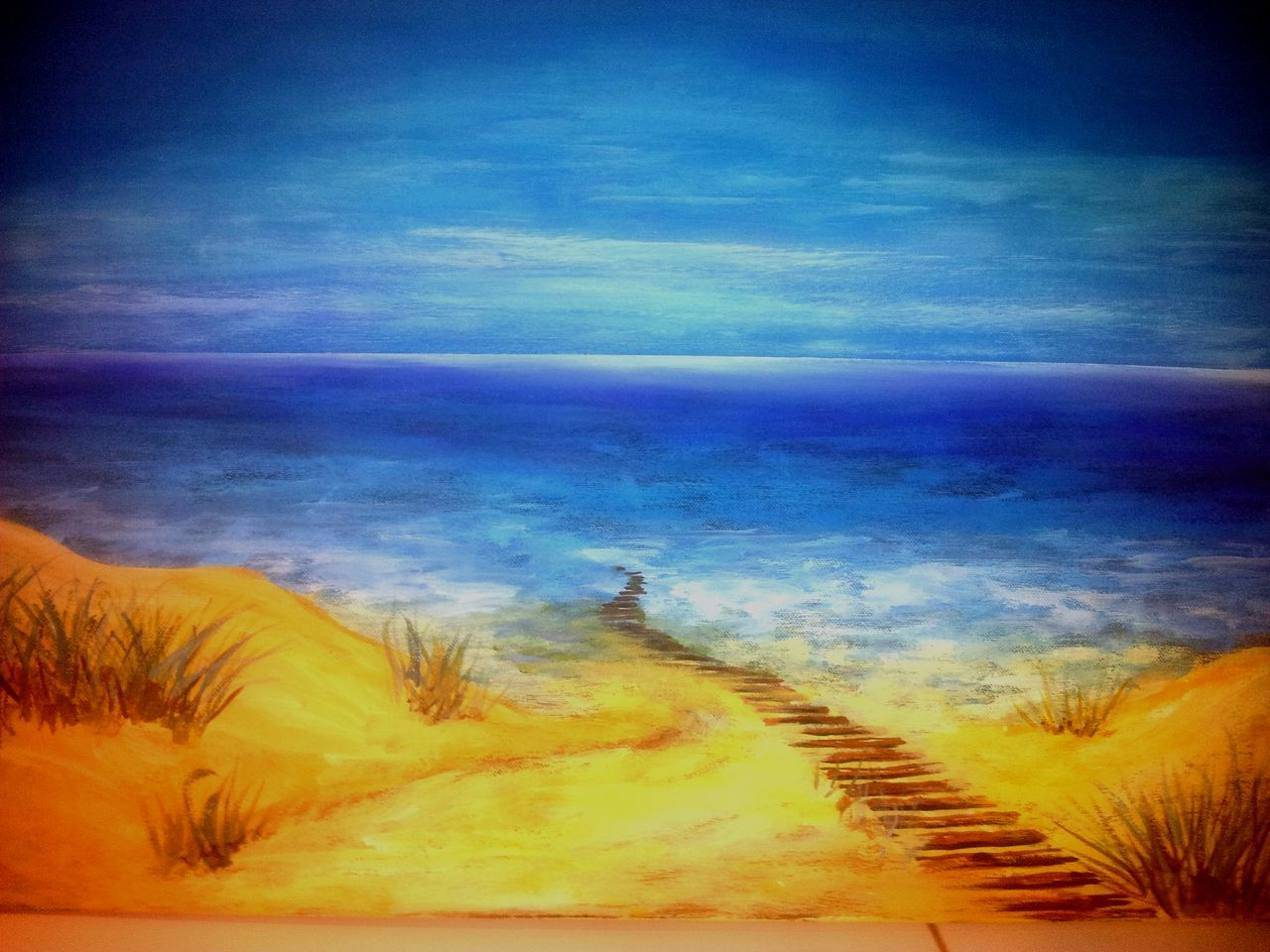 bild acrylmalerei malerei landschaften strandbilder. Black Bedroom Furniture Sets. Home Design Ideas