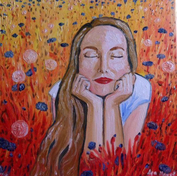 Blumen, Malerei, Leben, Pflanzen, Gras, Farben