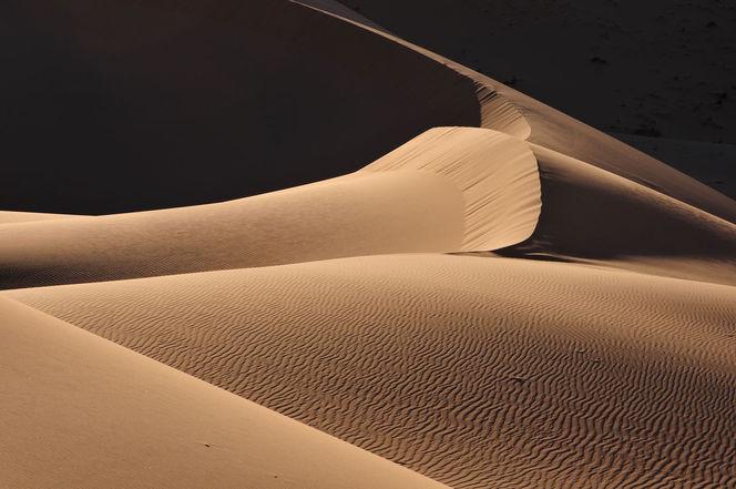 Dünen, Sand, Wüste, Struktur, Monochrom, Sahara