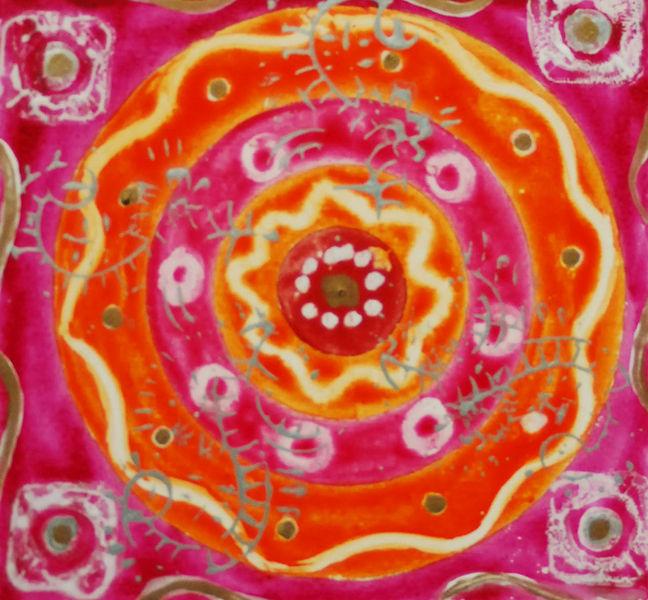 Mandala, Blumen, Besinnlichkeit, Tiefe, Rot, Freude