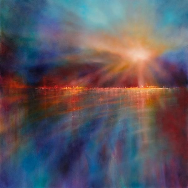 Weit, Sonnenuntergang, Strahl, Lichtstrahlen, Witterung, Horizont