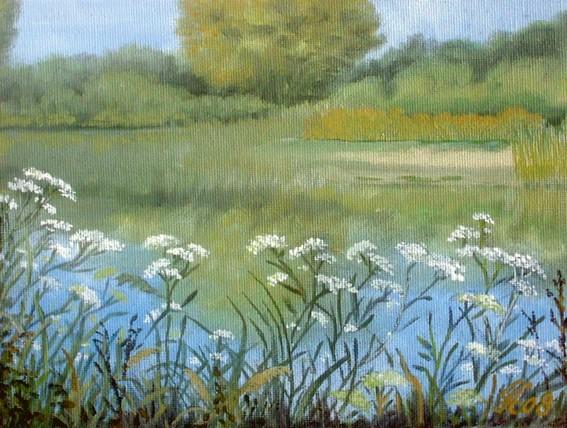 Baggerseeufer, Landschaft, Malerei