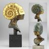 Bronze, Skulptur, Büste, Ammonit
