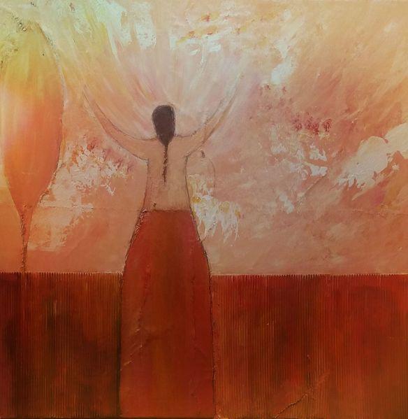 Freude, Frau, Gefühl, Morgenstimmung, Malerei